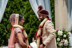 Lovely jaimala ceremony