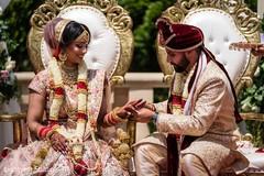 Indian wedding ring ceremony