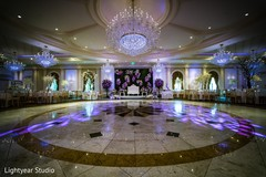 Luxury indian wedding reception.