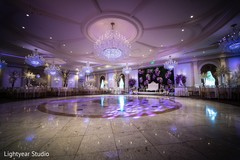 Romantically lighted indian wedding venue