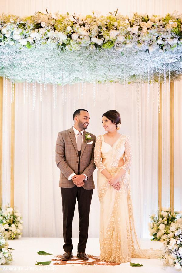 indian newlyweds,photo shoot,sari,maharani