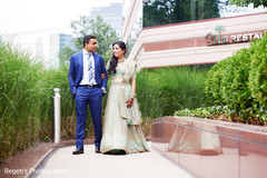 Indian newlyweds ready for their reception