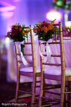 Lovely indian wedding chair floral and decor