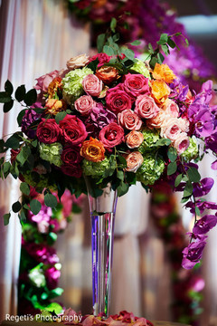 Indian wedding tall floral centerpieces
