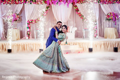 Fabulous indian newlyweds having their first dance