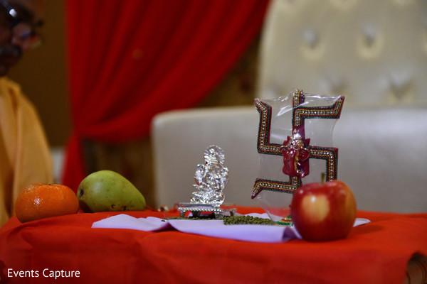 Indian pre-wedding ganesha decoration.