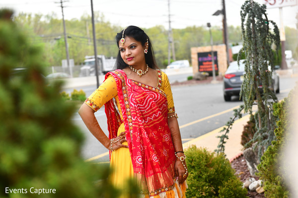 Enchanting Indian bride on her haldi outfit.
