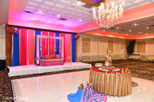 Marvelous Indian wedding sangeet party setup.