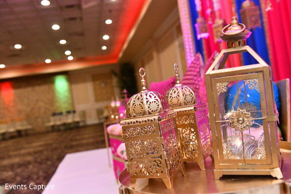 Indian sangeet lanterns decoration.