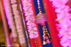 Wonderful Indian sangeet golden decoration capture.