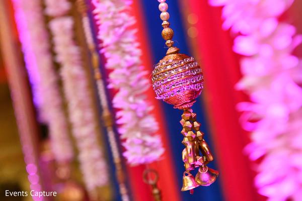 Wonderful Indian sangeet golden decoration capture.