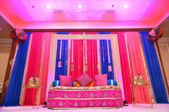 Wonderful sangeet stage decoration.