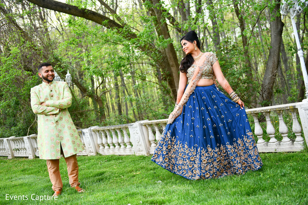Sensational outdoor themed Indian couple's photo shoot.