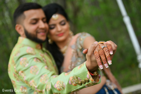 Magical Indian bride and groom photo shoot.