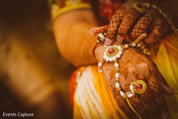 Stunning Indian bridal Hath Panja bracelet.