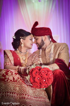 Dazzling indian bride and groom's photography.
