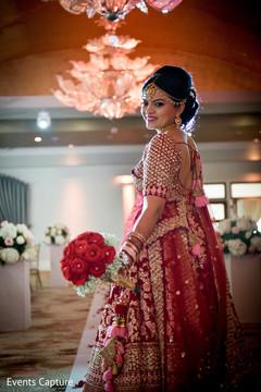 Beautiful Maharani entering her wedding ceremony.