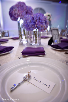 """Personalized indian wedding """"Thank You"""" table stationery."""