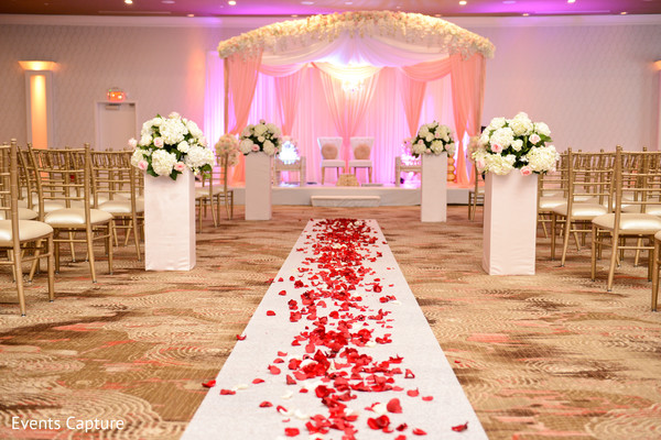 Magnificent Indian wedding ceremony mandap flowers and decor.