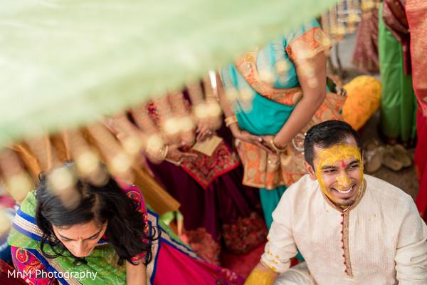 Indian groom during Haldi ceremony