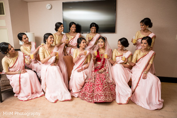 indian wedding,indian bride,bridesmaids,maharani