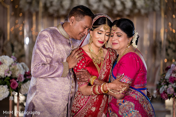 Tender moment between the maharani and her parents