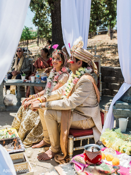 Indian couple during the Indian wedding rituals