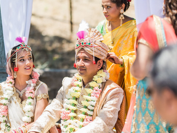Shot of the Indian couple during the ceremony
