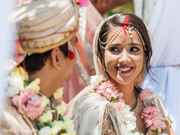 Indian couple sweetly looking at each other