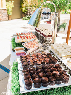 Chocolate and various flavor treats for the Indian wedding guests