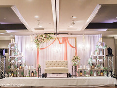 Lovely indian wedding reception stage