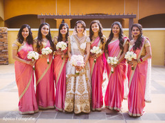 Sweet indian bridesmaids posing for photo shoot