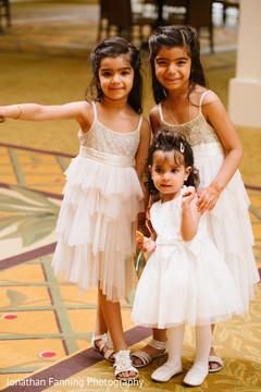 Enchanting Indian flower girls capture.