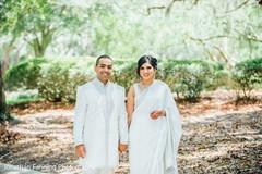 Glamorous indian couple outdoors capture.