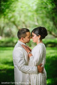 Romantic indian couple portrait.