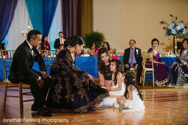 indian bride and groom,indian wedding reception fashion,indian flowergirls