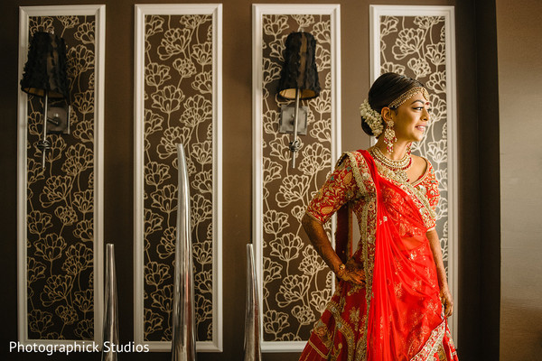 indian bride,getting ready,indian bridal lengha