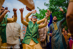 Upbeat indian wedding baraat.