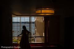 Amazing Indian bride silhouette photo.