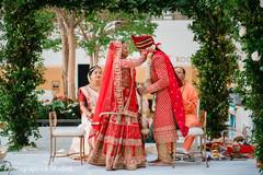 Varmala ceremony garland exchange ritual.