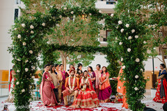 Lovely Indian wedding ceremony roses deco