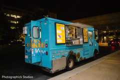 Unique Indian wedding desserts truck.