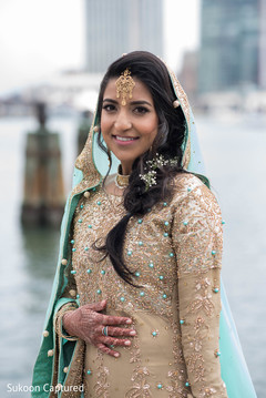 Indian bride's lovely capture.