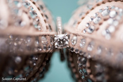 Stunning Indian bridal engagement ring portrait.