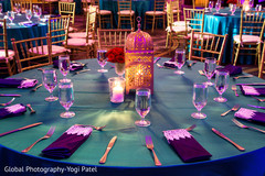 Beautiful table design capture at the Indian wedding