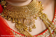 Bridal jewelry close up details