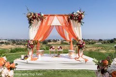 Outdoor indian wedding mandap ideas