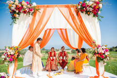 Colorful indian wedding mandap
