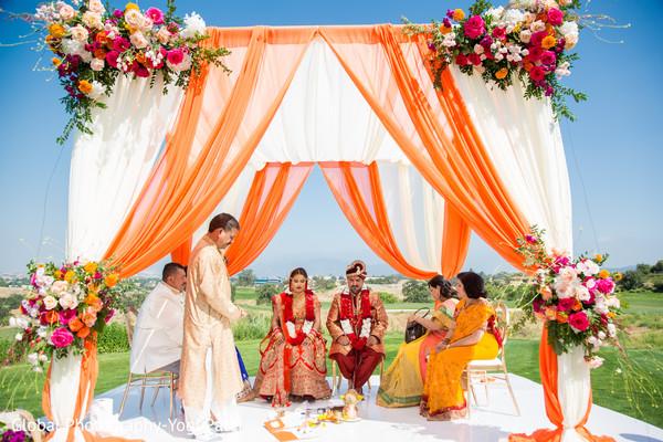 Colorful indian wedding mandap