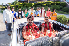 Indian couple leaving their wedding ceremony
